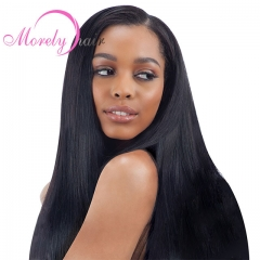 Peruvian Straight Hair Lace Frontal With Bundles 4PCS Human Hair Bundle With Frontal