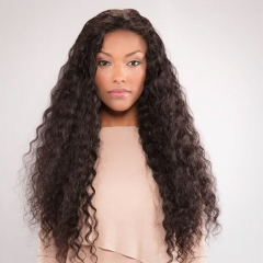 Brazilian Hair Deep Wave 3 Bundles With Frontal Human Hair Bundles With Frontal Lace Frontal Human Hair Extension