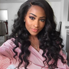 Loose Wave Hair Bundles Indian Hair Bundles 100% Human Hair Extensions Natural Color 1/3/4 Pieces Non Remy Hair Weave