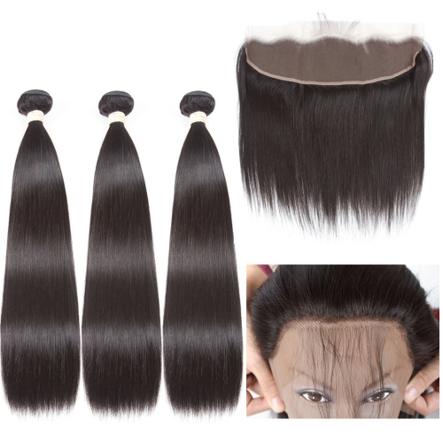 HD Lace Frontal With Bundles 4PCS Human Hair Bundle With Frontal